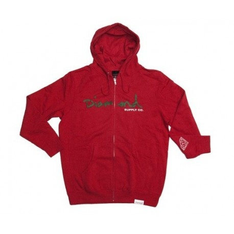 Sudadera DIAMOND OG Script red