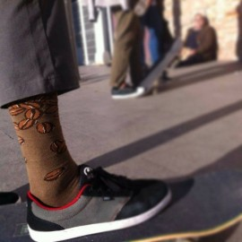 Calcetines APARTTOGETHER 'Coffee lovers' BROWN