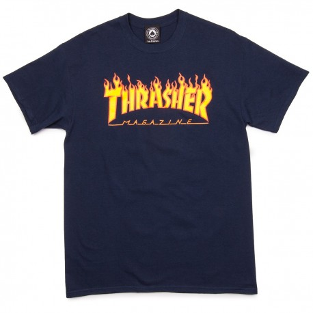 Camiseta THRASHER 'Flame' navy