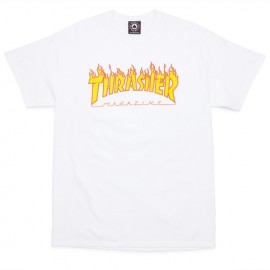Camiseta THRASHER 'Flame' white