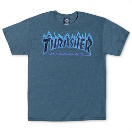 Camiseta THRASHER 'Flame' purple