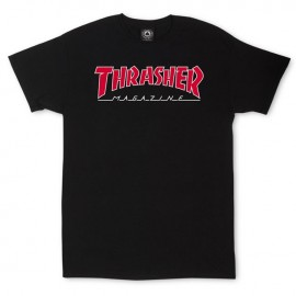 Camiseta THRASHER 'Outlined' black