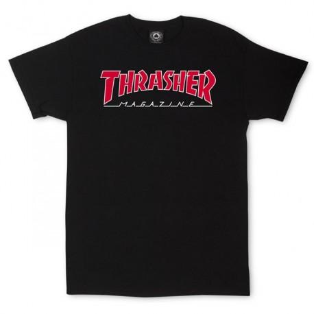 Camiseta THRASHER 'Outlined' black