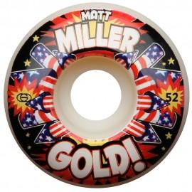 Ruedas GOLD 'Miller' 52mm 101A Kapow