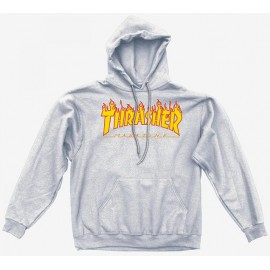 Sudadera THRASHER 'Flames' grey