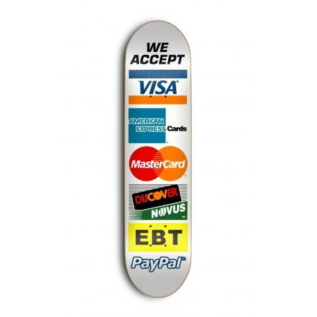 "Tabla SKATE MENTAL Credit Cards 8.25"""